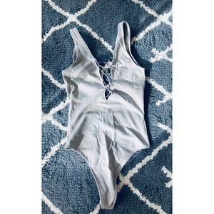 Aritzia (Wilfred) Light Grey Bodysuit